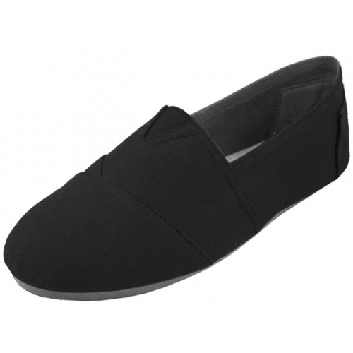 ''Men's ''''EasyUSA'''' The Most Comfortable Slip On Casual Canvas SHOES ( Black Color )''