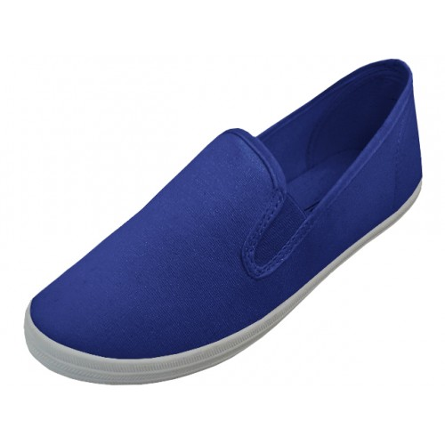 Men's Slip On Twin Gore Upper Casual Canvas SHOES (  Navy Color ) Open Stock