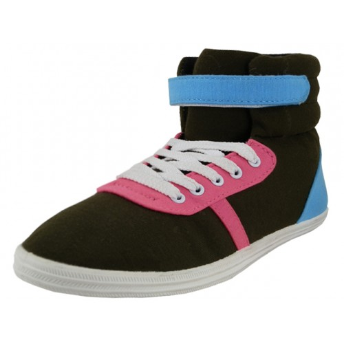 Women's High Top Canvas Lace-up SNEAKERS