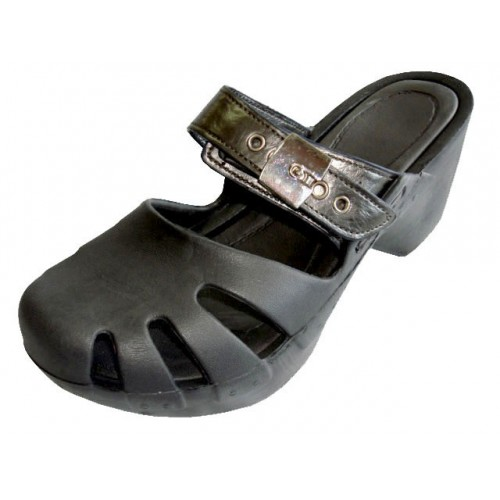 Girl's Wedge CLOG sandals ( Black Color )