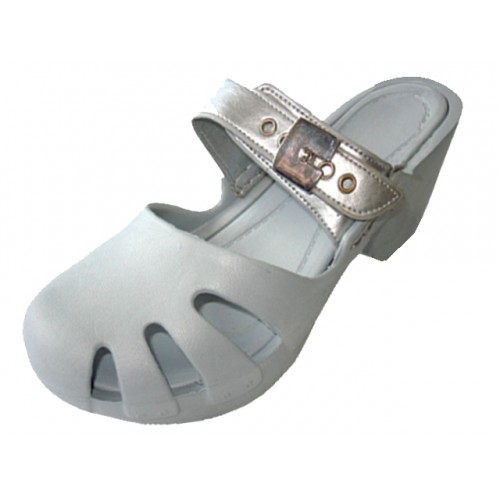 Girl's Wedge CLOG Sandals ( Silver Color )