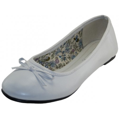 ''Women's ''''EasyUSA'''' Comfort Ballet Flat SHOES ( White Color ) Available In Single Size''