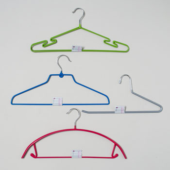 HANGERS 4AST STYLE W/PVC COATING & METAL HOOK SHIRT & TROUSER #G20421