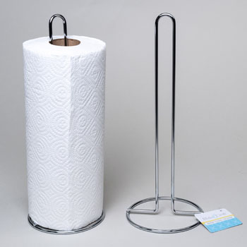 PAPER TOWEL HOLDER UPRIGHT 12.5 CHROME PLATED B&C HT #G25753T