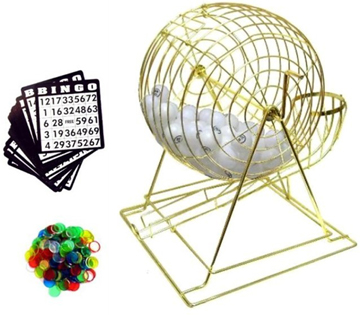 PROFESSIONAL BINGO SET WITH PING PONG BALLS (Sold by the piece) #GI391