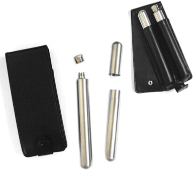CIGAR HOLDER AND TUBE FLASK WITH CASE (Sold by the piece) #GI418