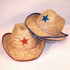 KIDS STRAW COWBOY HAT WITH STAR (Sold by the dozen) #HT025