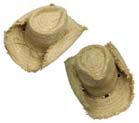 STRAW FRINGED COWBOY HATS (Sold by the dozen) #HT030