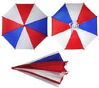 AMERICAN FLAG RED WHITE BLUE UMBRELLA HATS (Sold by the dozen) #HT052