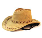 LIGHT BROWN HEAVY LEATHER STYLE WESTERN COWBOY HAT (Sold by the piece or dozen) #HT072