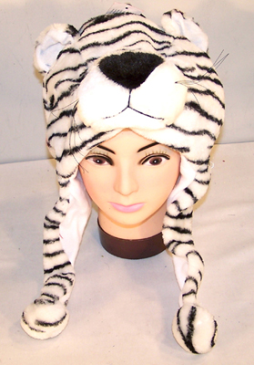 ORANGE TIGER PLUSH ANIMAL HATS (Sold by the PIECE ) #HT140