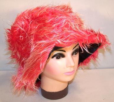FUZZY RED HAT (Sold by the piece) #HT145
