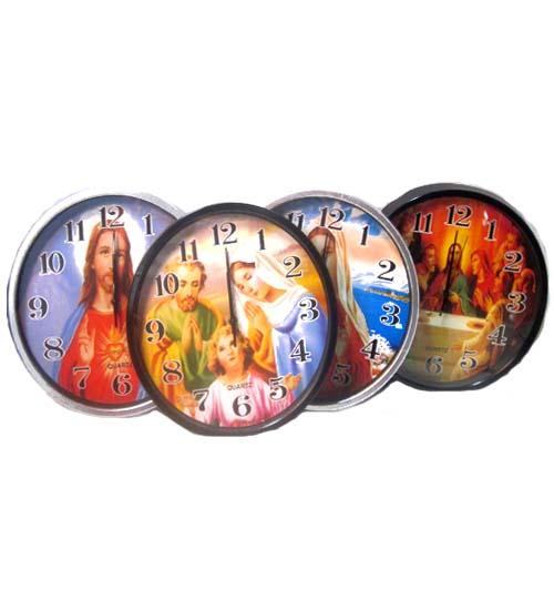 ''Religious CLOCK, 30cm DIA x 4cm Asst #IWBC-71266-20''