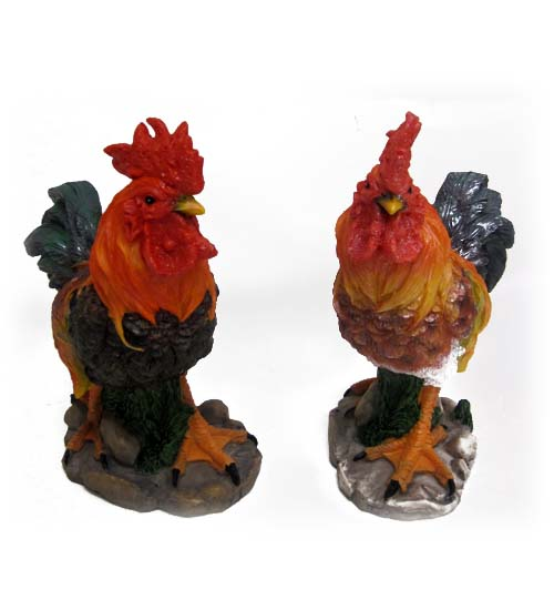 ''Polyresin Rooster FIGURINE, 8in. #IXRT-70625-12''