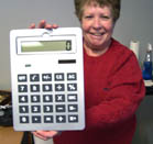 GIANT SIZE SOLAR CALCULATOR (Sold by the piece) #JN105