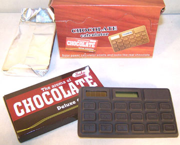 CHOCOLATE SOLAR CALCULATOR (Sold by the dozen) #JN121