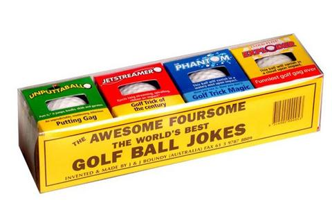 AWESOME 4 PACK TRICK GOLF BALLS ( sold by the pack of 4 BALLS ) #JN152