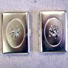 PEWTER METAL CIGARETTE CASES (Sold by the piece or dozen ) #LT012