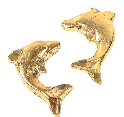 GOLD DOLPHIN STUD EARRINGS