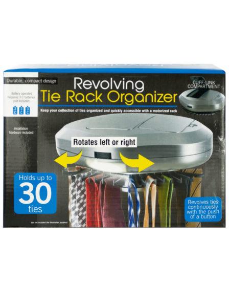 Revolving Tie Rack Organizer