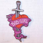 BAD GIRL DAGGER PATCH (Sold by the piece) #P311