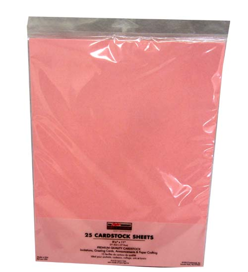 25 Pink Cardstock SHEETS #P63222