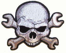 WRENCH SKULL PATCH (Sold by the piece) #PA6100