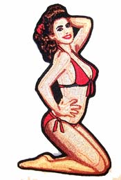 BIKINI PIN UP GIRL PATCH (Sold by the piece) #PA6490