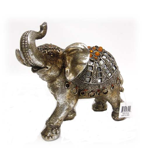 Poly. Elephant FIGURINE 6.5 inch Tall #PF345