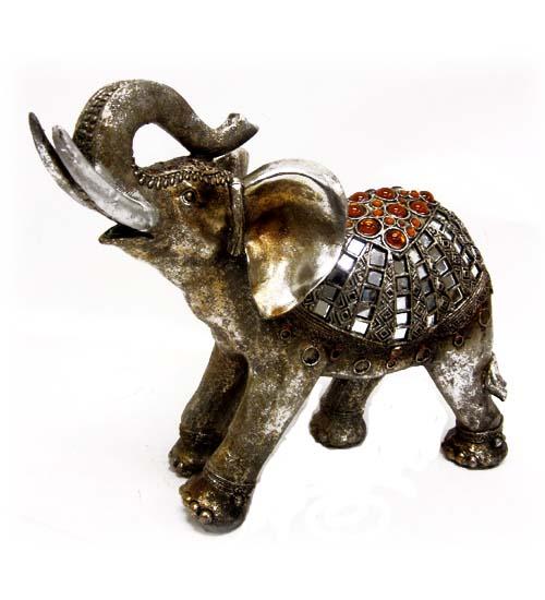 Poly. Elephant FIGURINE 13 inch Tall #PF349