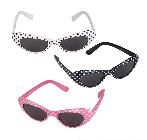 RETRO POLKA-DOT CAT-EYE SUNGLASSES