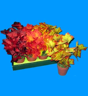 7 IN. DECORATIVE LEAF WITH VASE #ST182