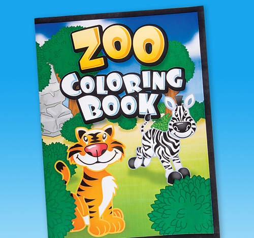 ''9'''' 12-PAGE ZOO ANIMAL COLORING BOOK''