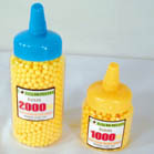 BOTTLED PLASTIC BB'S FOR GUNS 1000 COUNT (Sold by the piece) #TY202