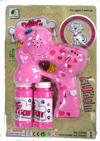 LIGHT UP DOGGY BUBBLE GUN WITH SOUND (sold by the piece ) #TY366
