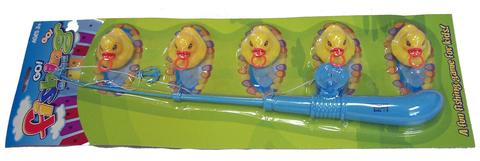 FISHING DUCK GAME WITH 16 INCH POLE ( sold by the dozen ) #TY429