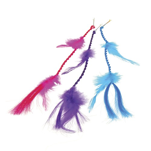 NEON FEATHER HAIR CLIPS (D) #4282
