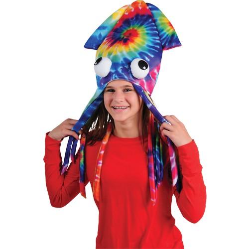 TIE DYE SQUID HAT #H568