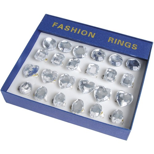 JUMBO CRYSTAL RINGS/24-BX #JA178