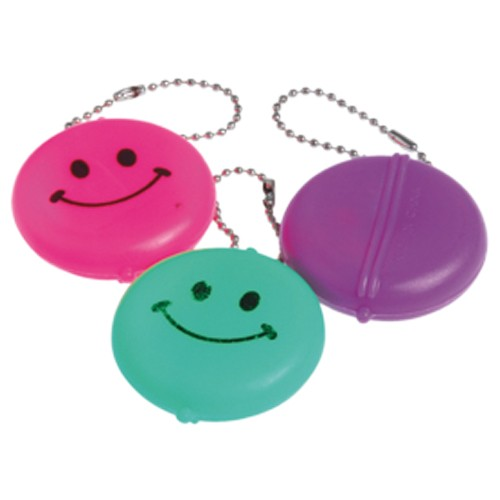 SMILE ROUND FACE PURSE KEYCHAINS #KC297