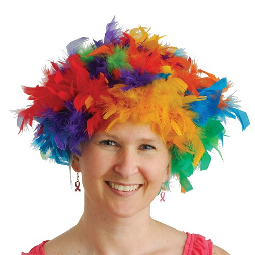 RAINBOW FEATHER WIG #OD334