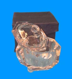 Crystal TRINKET BOX 3.15x3.15x2.95 #WB8046