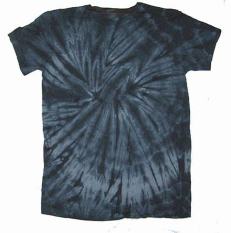 YOUTH BLACK SPIDER TIE DYED TEE SHIRT (sold by the piece or dozen ) #YDT
