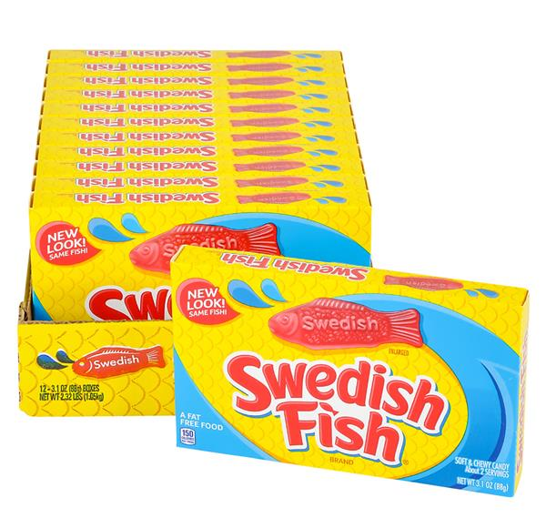 Swedish fish red theater box candy 12pc case for Swedish fish box